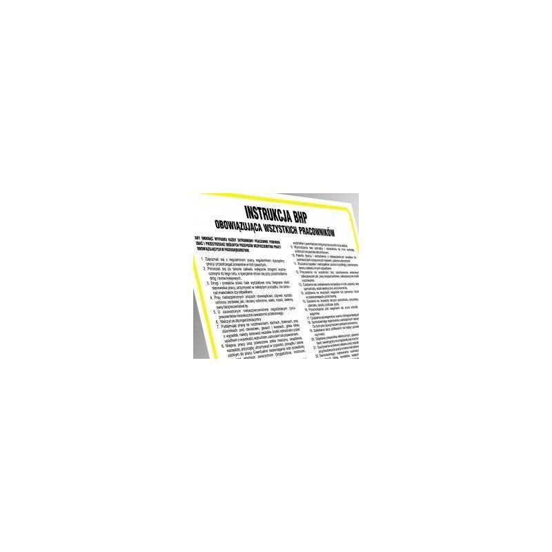 Instrukcja BHP dla pracowników zatrudnionych w magazynie ogólnego przeznaczenia. Płyta elastyczna 24,5x35 cm