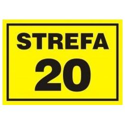 Strefa zagrożenia 20. Płyta żółta 14,8x21 cm