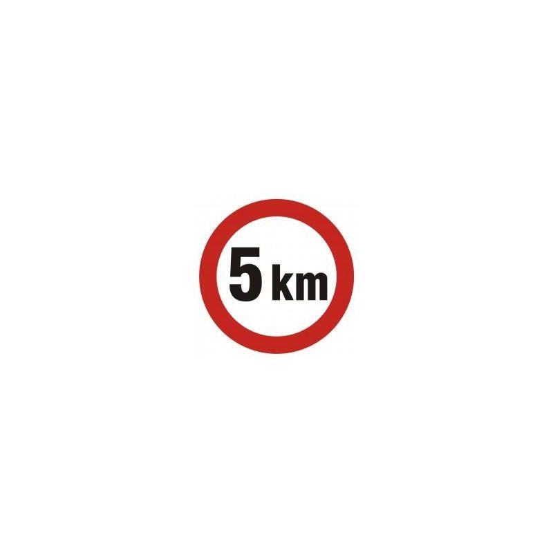 Ograniczenie prędkości do 5 km. Płyta 33x33 cm