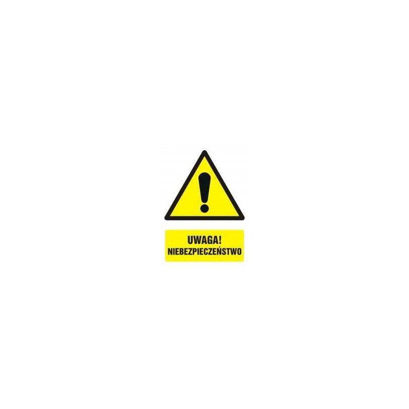 Uwaga! Niebezpieczeństwo! Folia samoprzylepna 10,5x14,8 cm