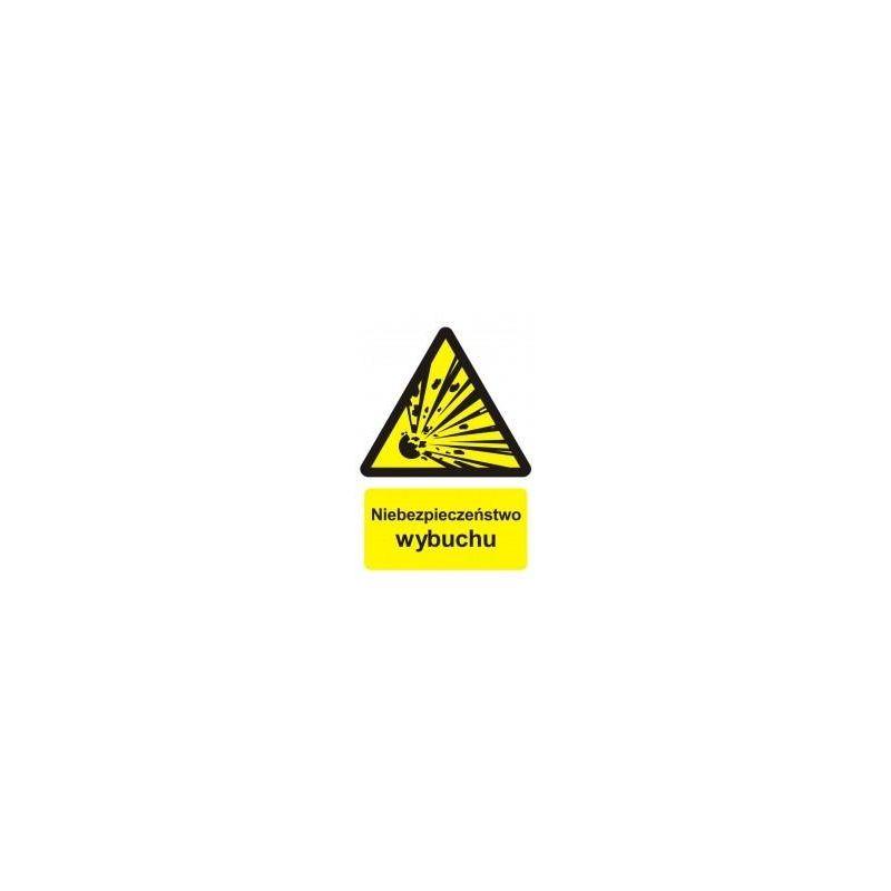 Niebezpieczeństwo wybuchu - materiały wybuchowe. Płyta 22,5x27,5 cm