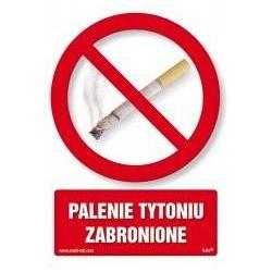 Palenie tytoniu zabronione. Płyta 14,8x21 cm