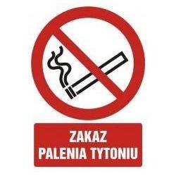 Zakaz palenia tytoniu. Folia samoprzylepna 10,5x14,8 cm