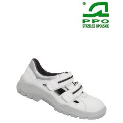 Sandały bezpieczne z metalowym podnoskiem białe wz.201