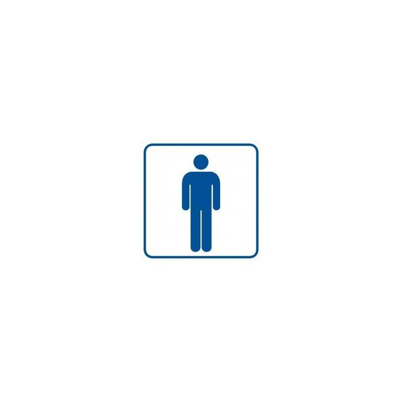 WC-męski. Płyta 10,5x10,5