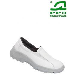 Półbuty bezpieczne z metalowym podnoskiem białe wz.203