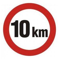 Ograniczenie prędkości do 10 km. Płyta 33x33 cm