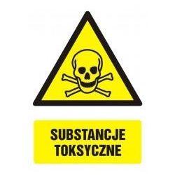 Substancje toksyczne. Folia samoprzylepna 14,8x10,5 cm