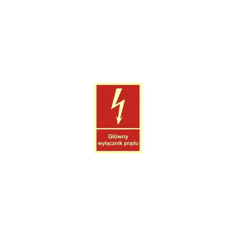 Główny wyłącznik prądu. Folia fluorestencyjna 15x22,2 cm