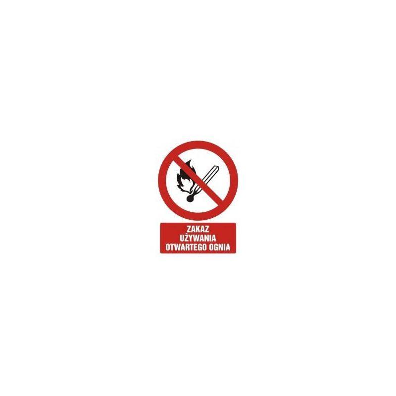 Zakaz używania otwartego ognia. Płyta 33x46,7 cm