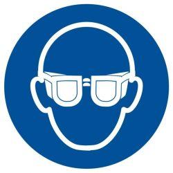 Załóż okulary ochronne bez opisu. Folia samoprzylepna 7,5x10,5 cm