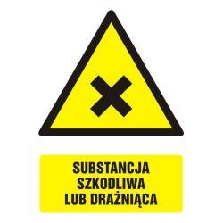 Substancja szkodliwa lub drażniąca. Folia nieświecąca 14,8x10,5 cm