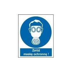 Załóż maskę ochronną. Folia 27,5x22,5 cm
