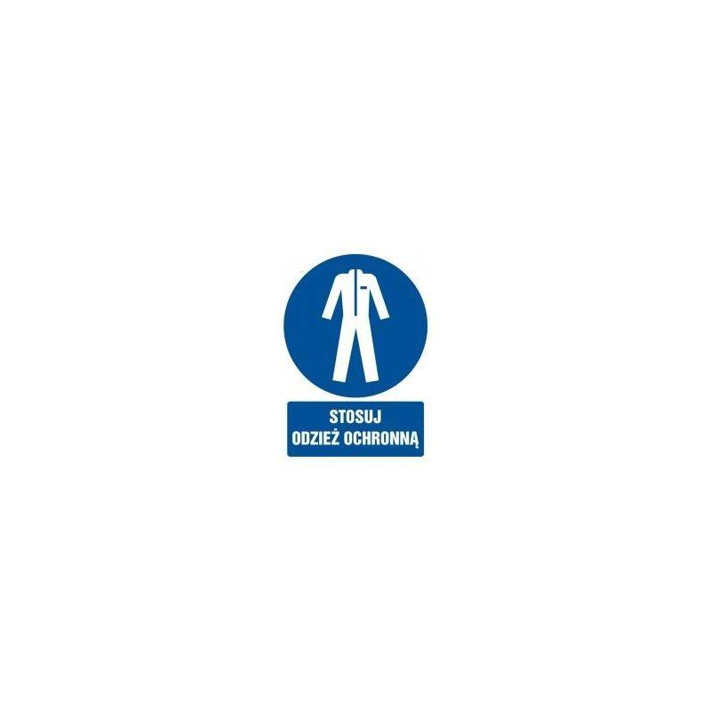 Załóż odzież ochronną. Folia samoprzylepna 27,5x22,5cm
