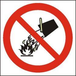 Zakaz gaszenia wodą. Płyta 15x15 cm