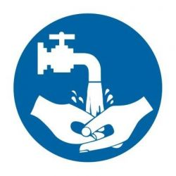 Nakaz mycia rąk. Folia samoprzylepna 5,5x5,5 cm