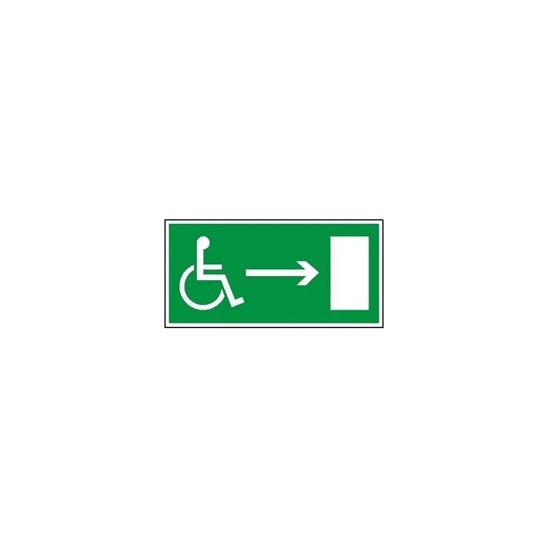 Kierunek dla inwalidów- prawo. Folia samoprzylepna 15x30 cm