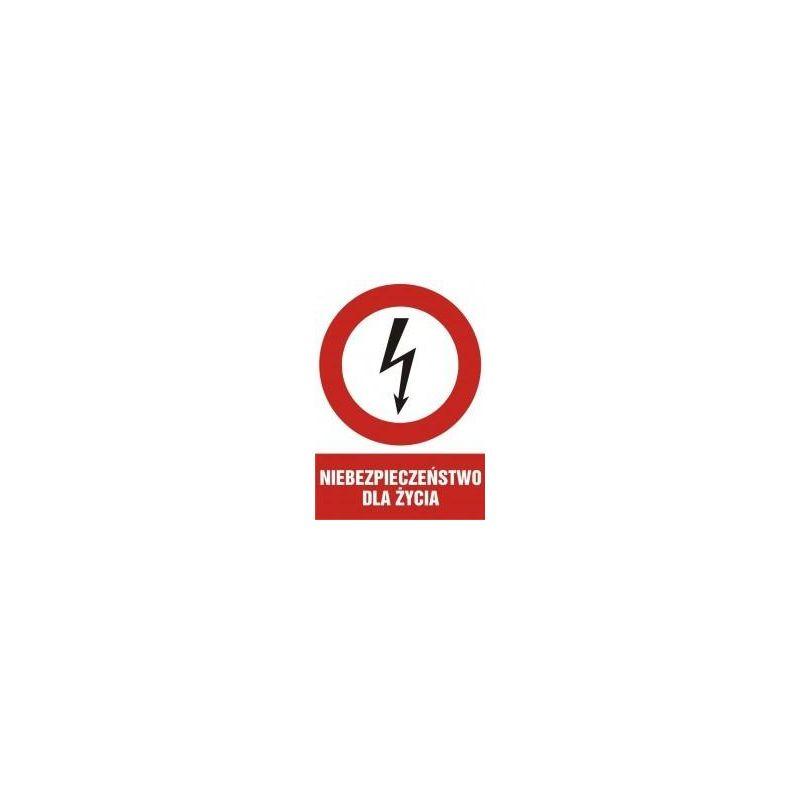 Niebezpieczeństwo dla życia. Folia samoprzylepna 10,5x14,8 cm