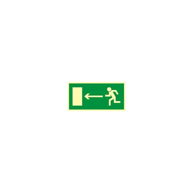 Kierunek do wyjścia drogi ewakuacyjnej w lewo. Płyta fluorestencyjna 15x30 cm