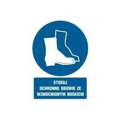 Stosuj ochronne obuwie ze wzmocnionym noskiem. Folia samoprzylepna 10,5x14,8 cm