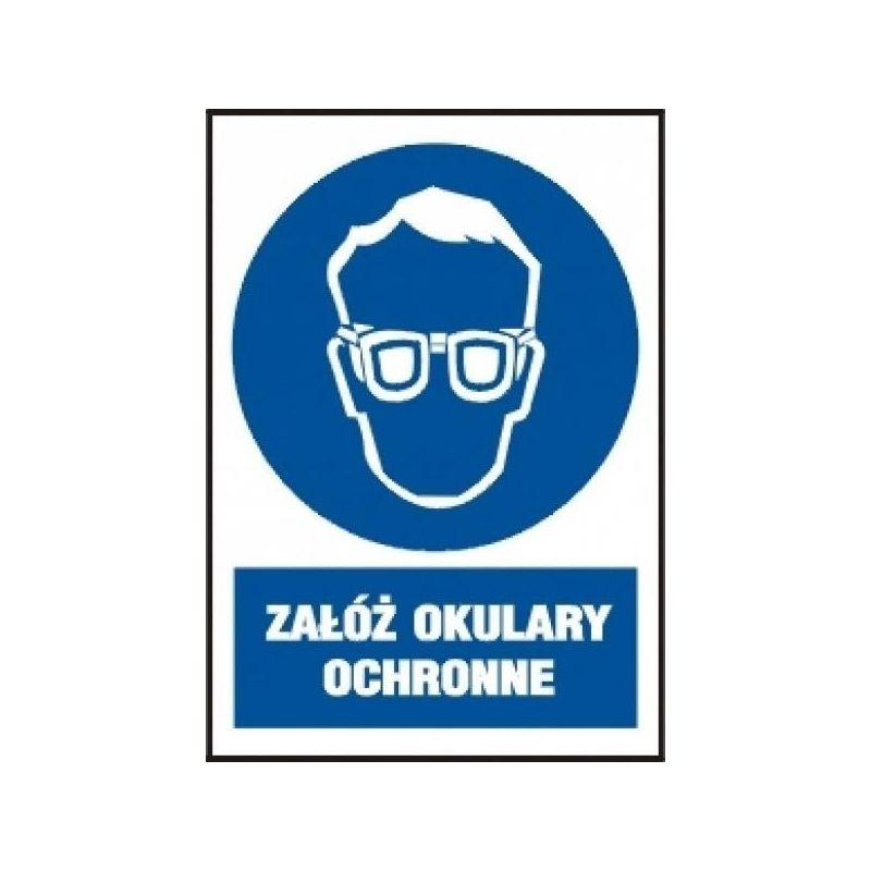 Załóż okulary ochronne. Folia samoprzylepna fluorestencyjna 10,5x14,8 cm