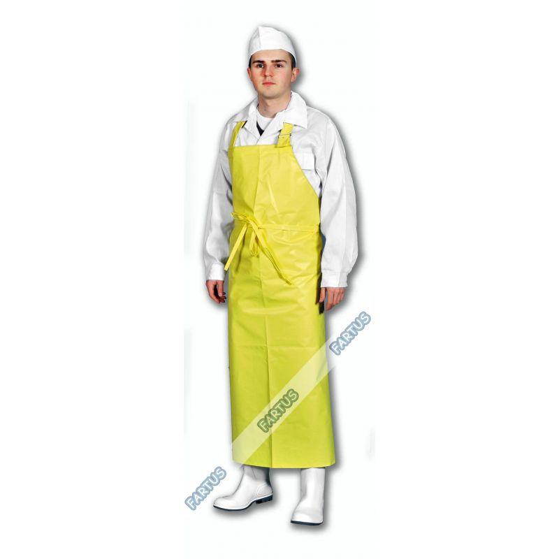Fartuch dla przemysłu spożywczego żółty typ A