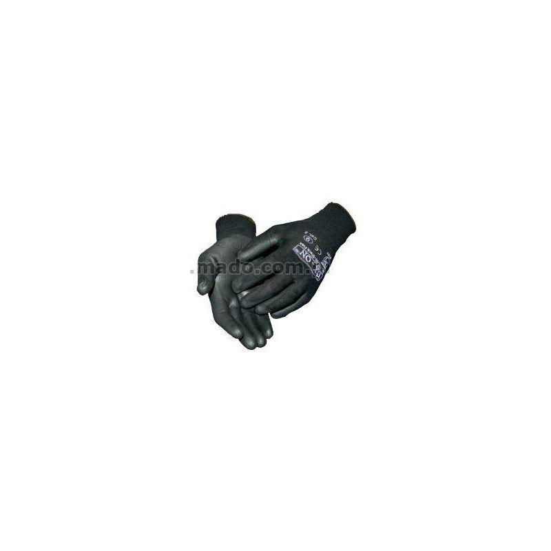Rękawice Black Flex kat.2 159 powlekane PU, ściągacz