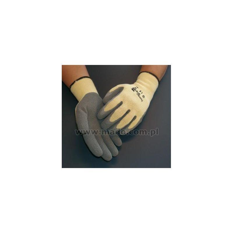 Rękawice Summer Grip kat.2 164 z szarą powłoką lateksową, szorstkowaną