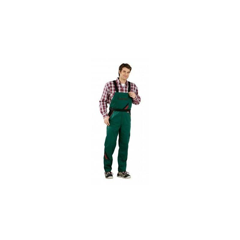 HIGHLINE Spodnie ogrodniczki PLANAM /zielono-czarno-czerwone/