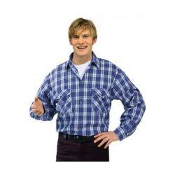 Koszula flanelowa 2001 PLANAM / niebieska/
