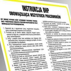 Instrukcja BHP dla montera na wysokości. Tablica elastyczna 35x24,5 cm