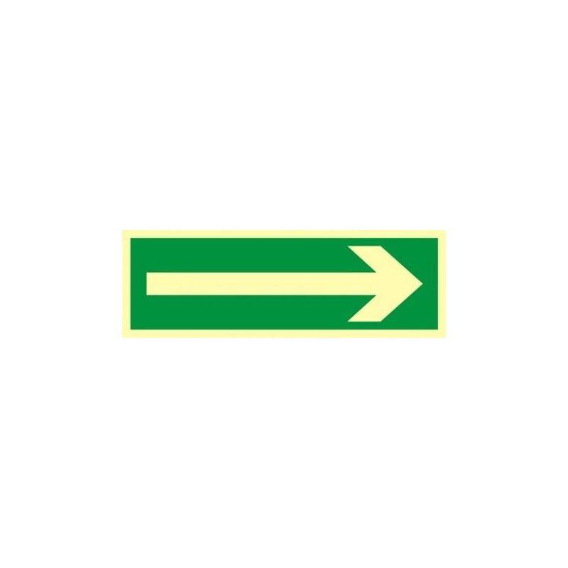 Kierunek drogi ewakuacyjne.Płyta fluorestencyjna 10x30 cm