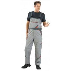 HIGHLINE Spodnie ogrodniczki PLANAM /cynkowo -łupkowo-czerwone/
