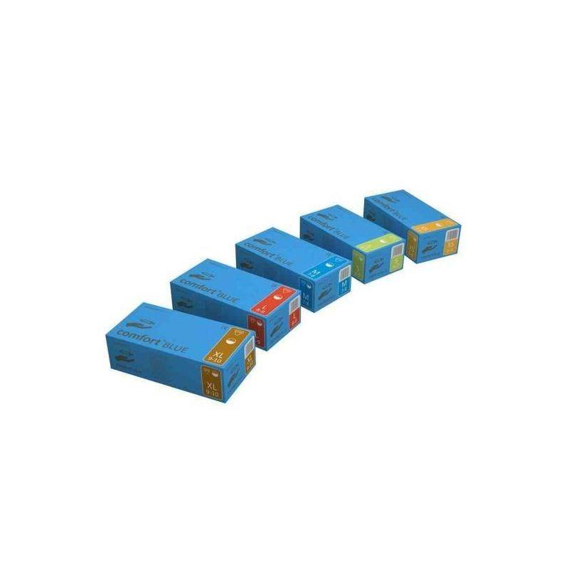 Rękawce lateksowe COMFORT blue A'100 (Ustawa VAT załącznik nr.3. poz.105)