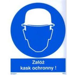 Załóż kask ochronny. folia 10,5x14,5