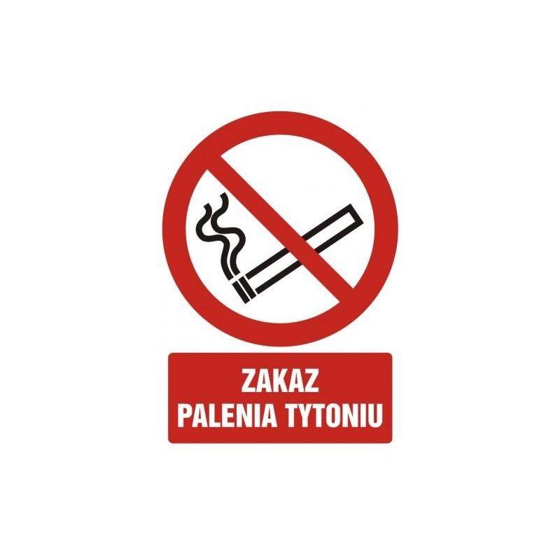 Zakaz palenia tytoniu 10,5x14,8 płyta