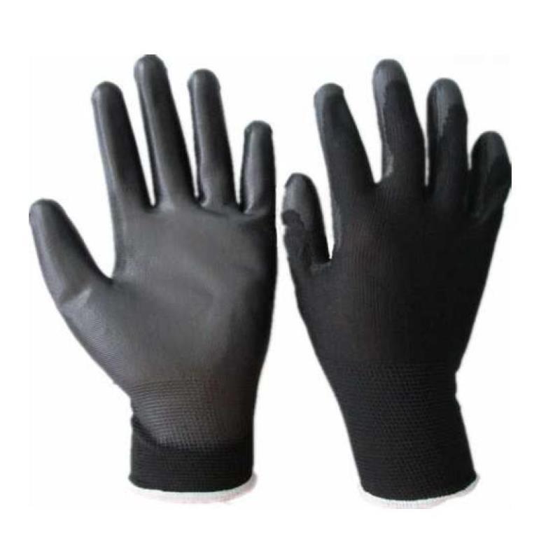 Rękawice powlekane lekkie czarne GLOPER RF-4102