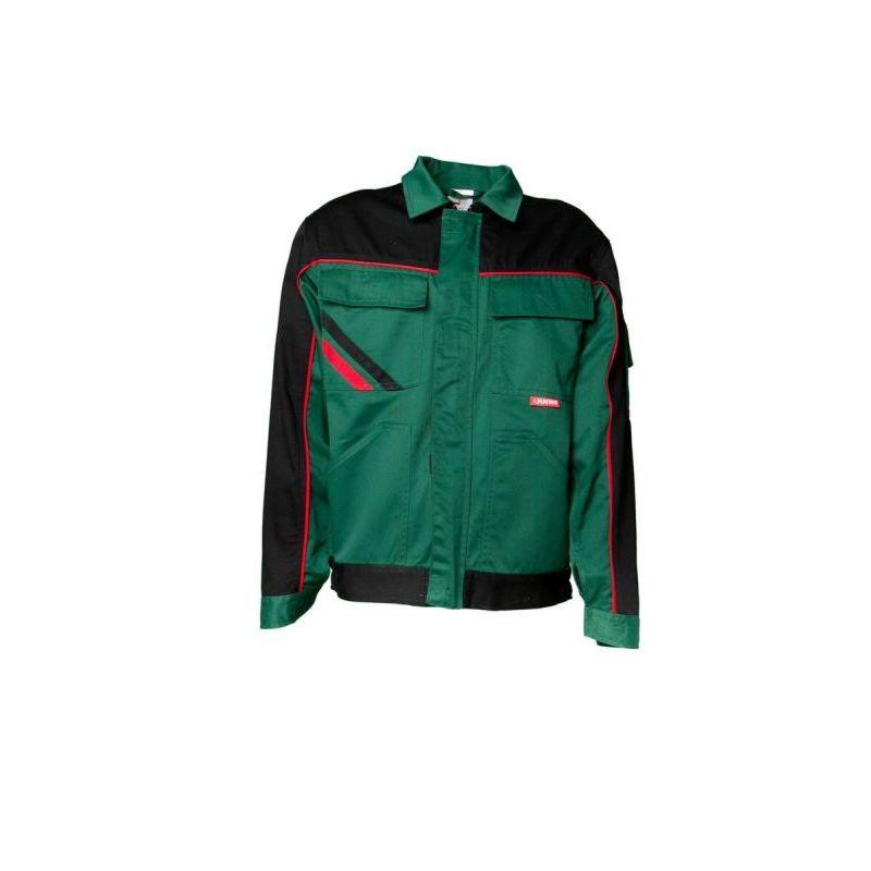 HIGHLINE Bluza robocza PLANAM /zielono-czarno-czerwona/