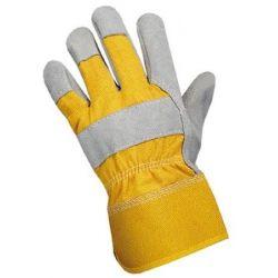 Rękawice GLOPER BREVER  SI-2111 wz.skórą dwoina żółte