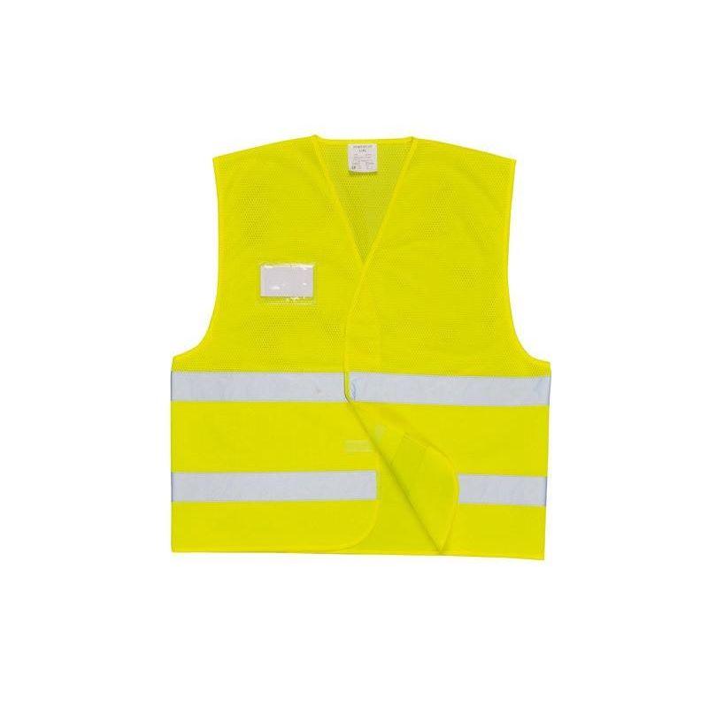Kamizelka żółta ostrzegawcza z siatki C494