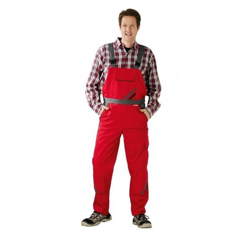 HIGHLINE Spodnie ogrodniczki PLANAM /czerwono-łupkowo-czarne/