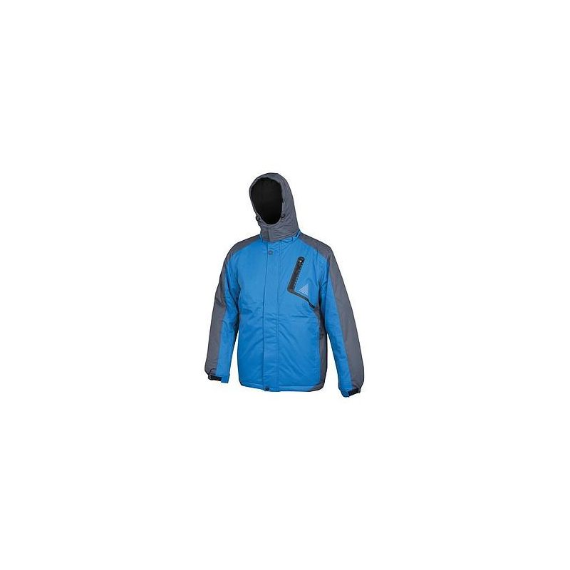 Kurtka zimowa męska ocieplana niebiesko-szara YORK H2148