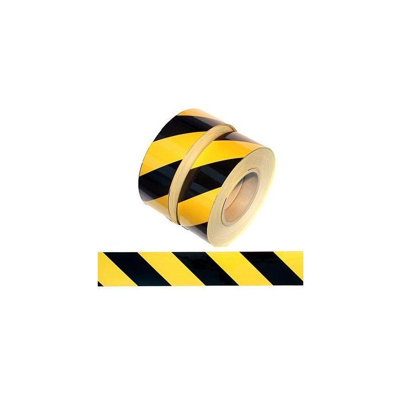 Taśma ODBLASKOWA czarno-żółta samoprzylepna dł.5 m szer.5cm