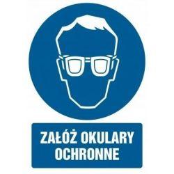 Załóż okulary ochronne.Płyta 21x29,7