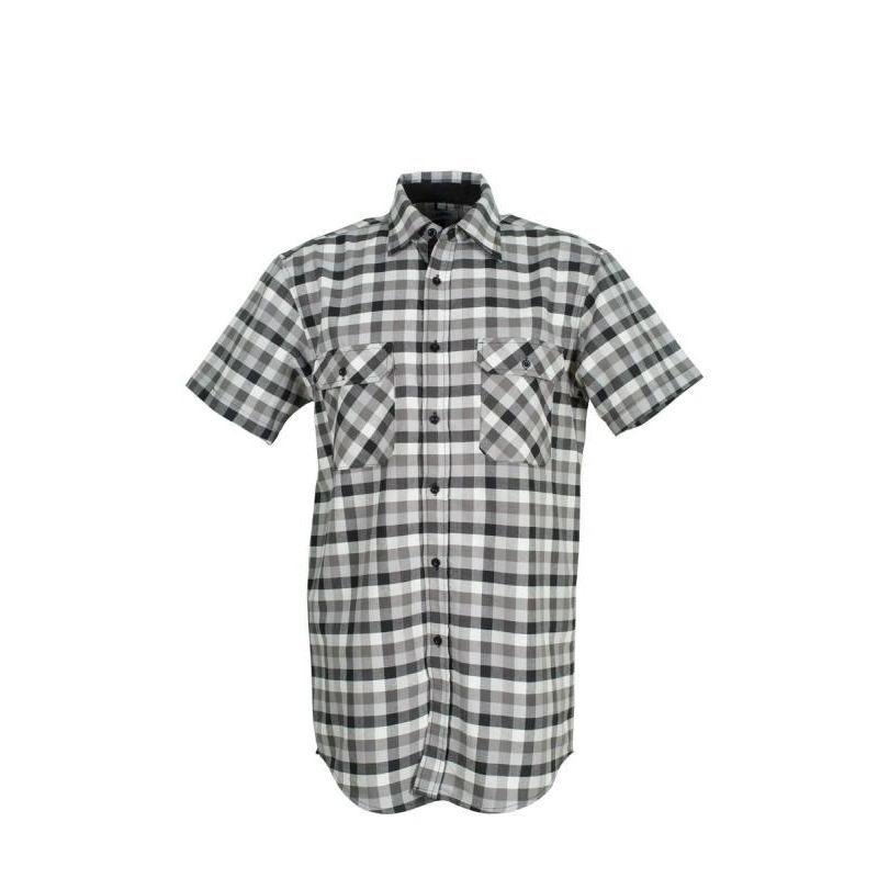 Koszula wizytwa COUNTRY 1/4 rękaw  PLANAM / czarna w karatkę/
