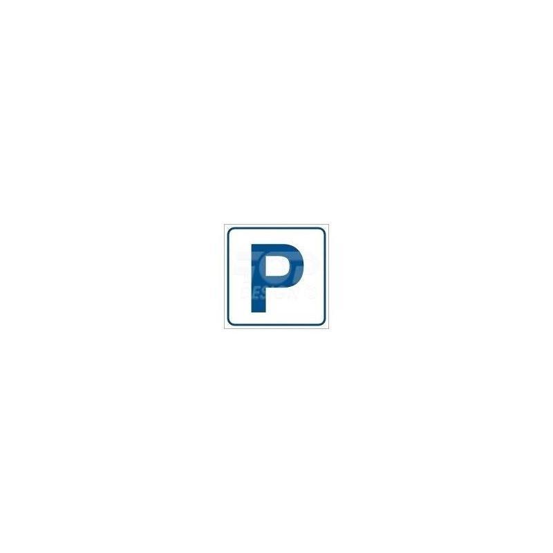 """""""P"""" - parking . Płyta sztywna 21x21 cm"""